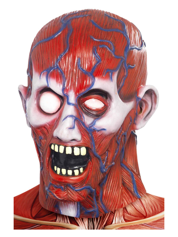 Anatomy Man Mask, Red, Latex