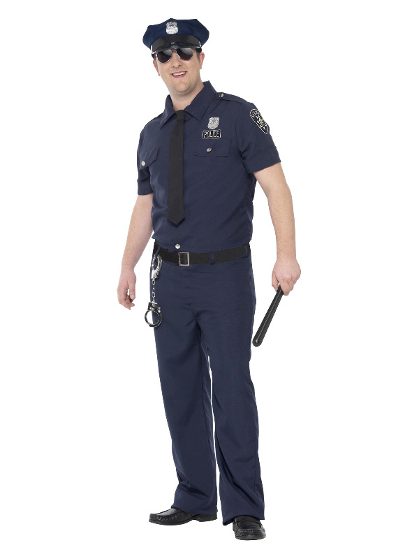 Curves NYC Cop Costume, Blue