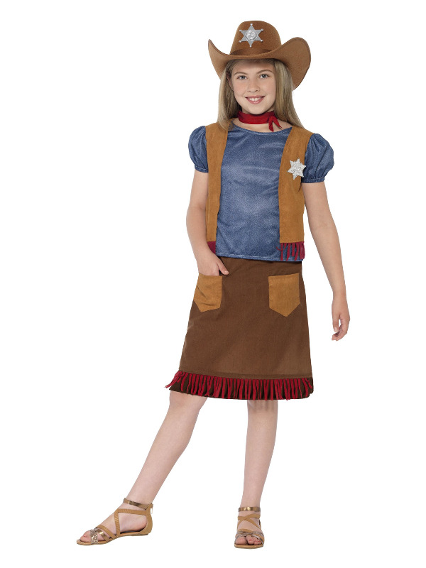 Western Belle Cowgirl Costume, Brown