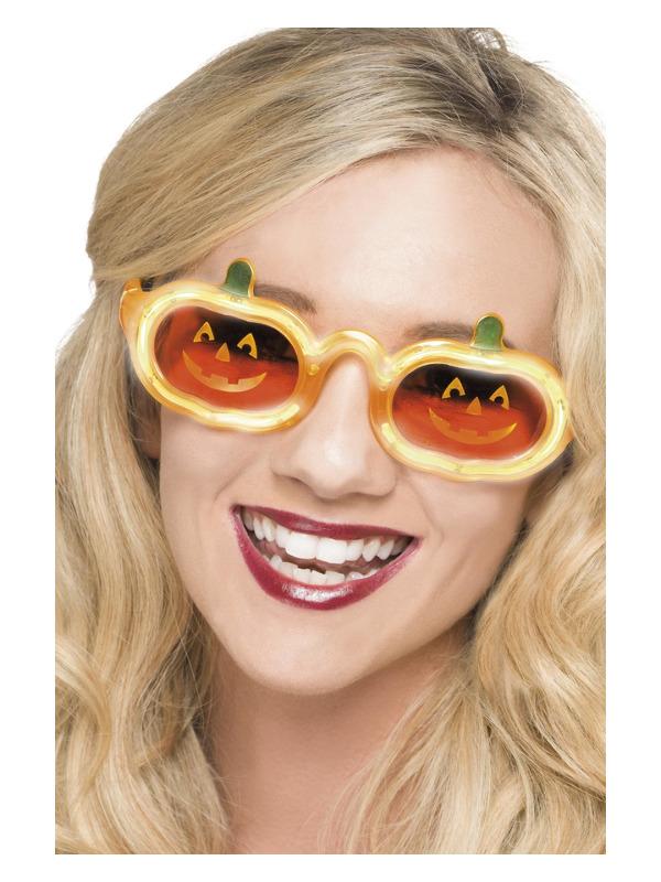 Pumpkin Light Up Specs, Orange