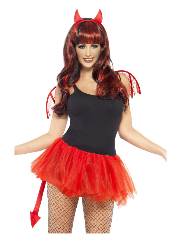 Delicious Devil Kit, Red, with Mini Wings, Horns, Tail & Tutu