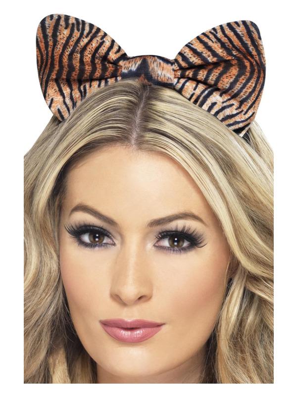 Tiger Bow on Headband, Tiger Print