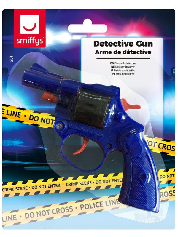 Detective Gun, Blue, Fires 8 Shot-Caps 13cm/5in