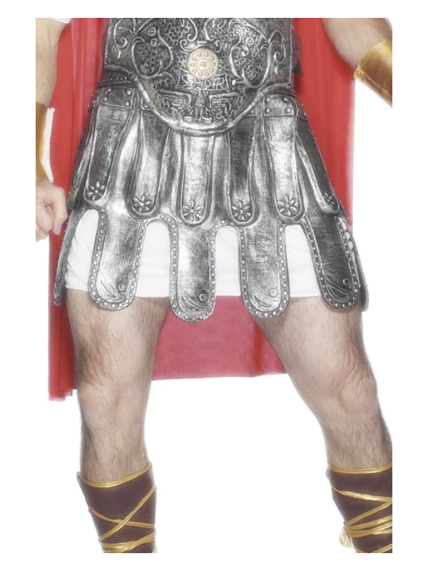 Roman Armour Skirt, Silver, Deluxe, Latex