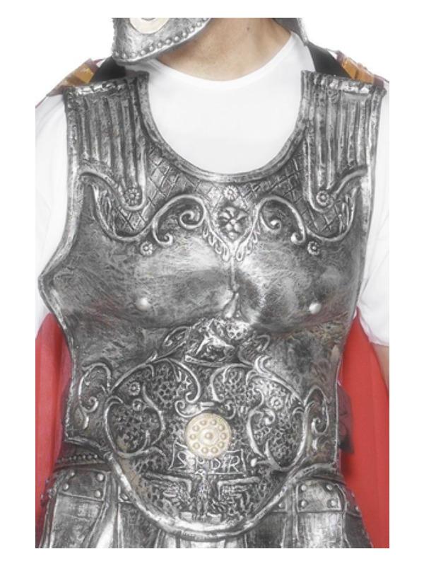 Roman Armour Breastplate, Silver, Deluxe, Latex