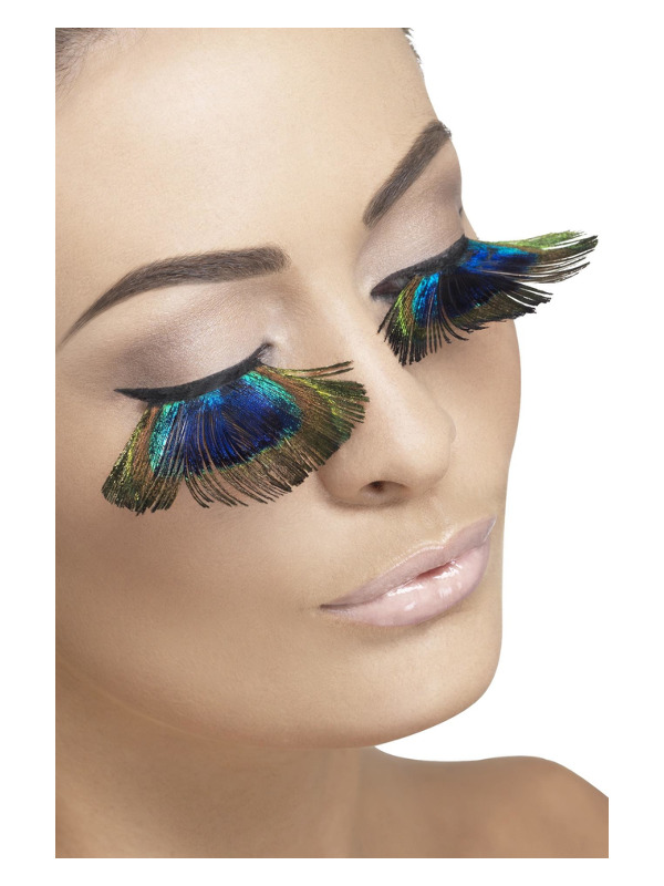 Eyelashes, Peacock Feathers, Purple, Contains Glue