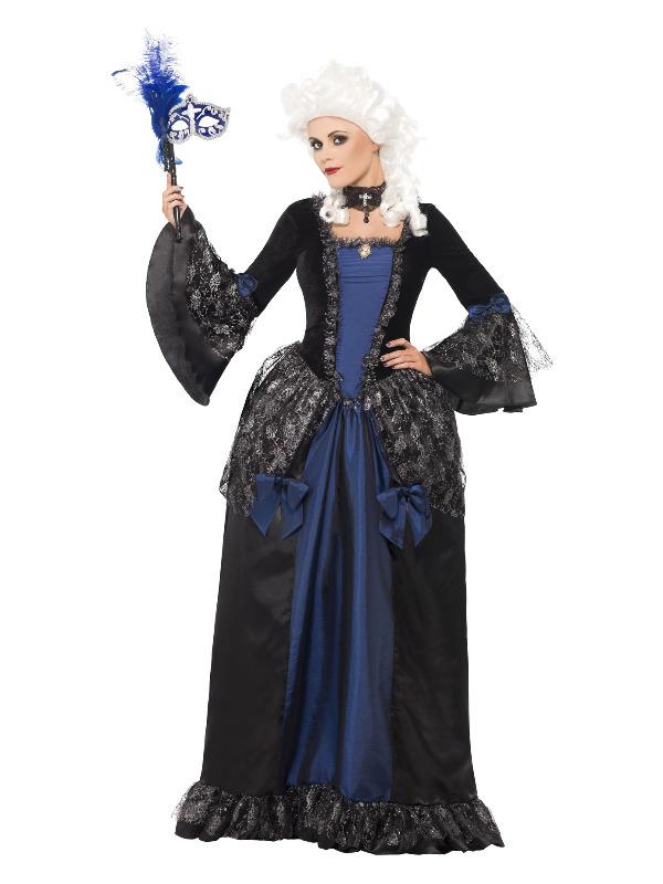 Baroque Beauty Masquerade Costume, Black