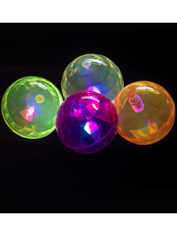 Air Ball, Flashing, Purple, Yellow and Pink, Assorted Colours, 6