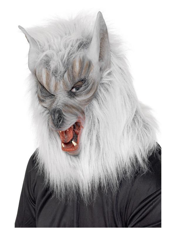 Wolf Mask, Grey, Overhead Latex
