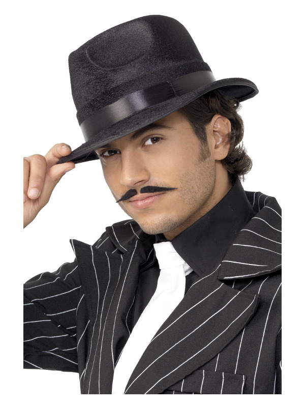 Indestructible Fedora Hat, Black, with Band