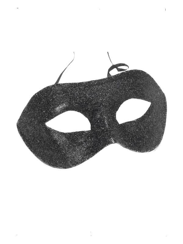 Gino Eyemask, Black, Glitter