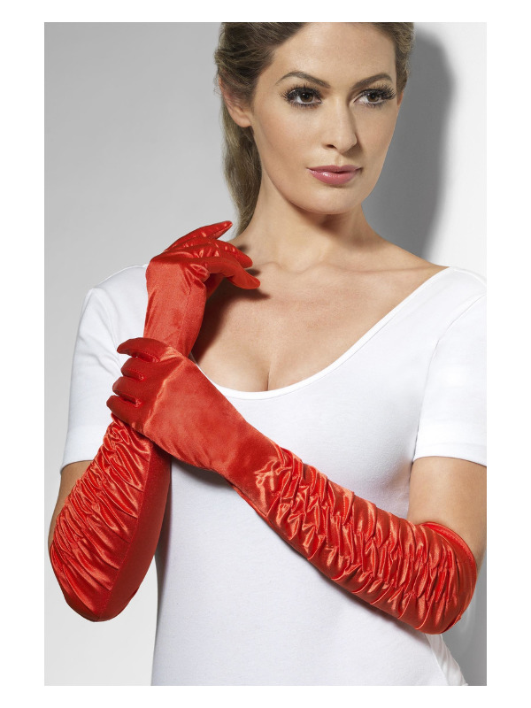 Temptress Gloves, Red, Long