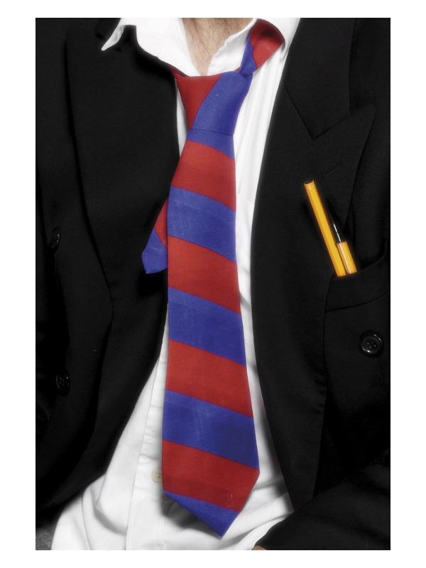 School Tie, Red & Blue