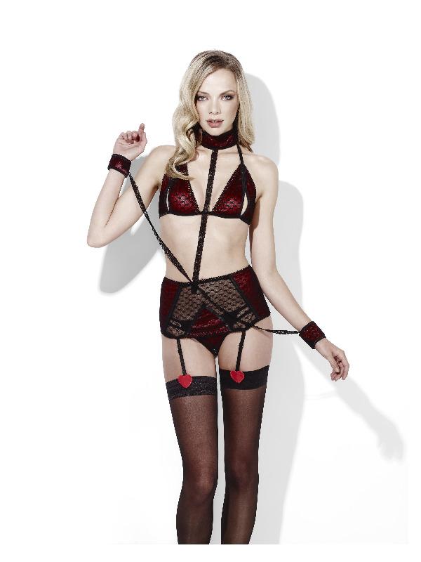 Fever Sweetheart, Be Mine, Collar & Cuffs Set, Bla