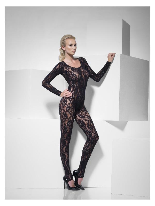 Body Stocking Black Lace, Black