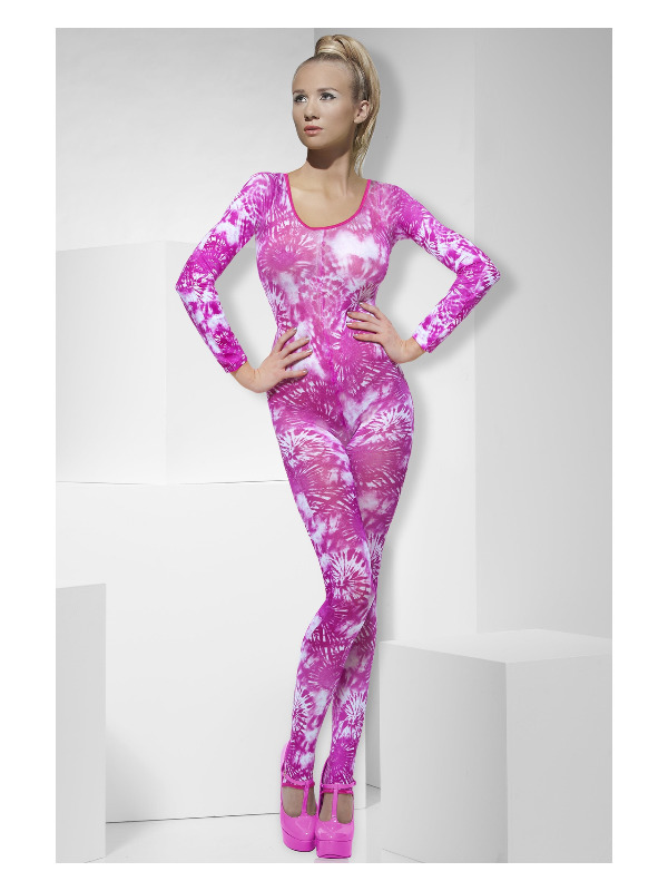 Tie Dye Pink Bodysuit, Pink