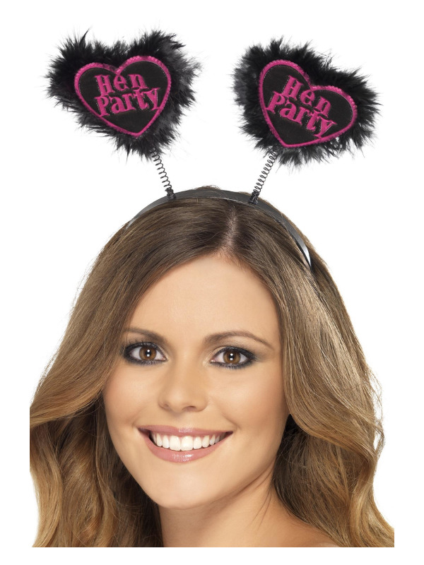 Hen Party Love Heart Boppers, Black