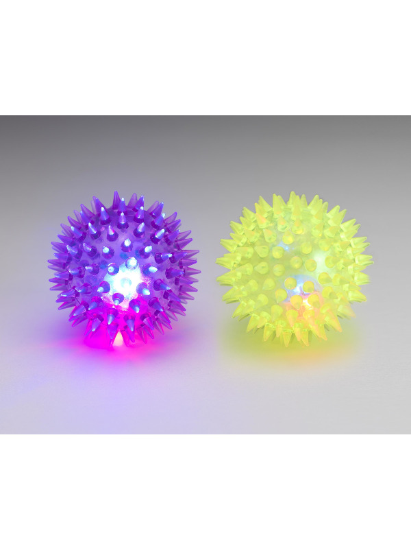 Light Up Fun Ball 6.5cm / 3in, Assorted Colours, 12