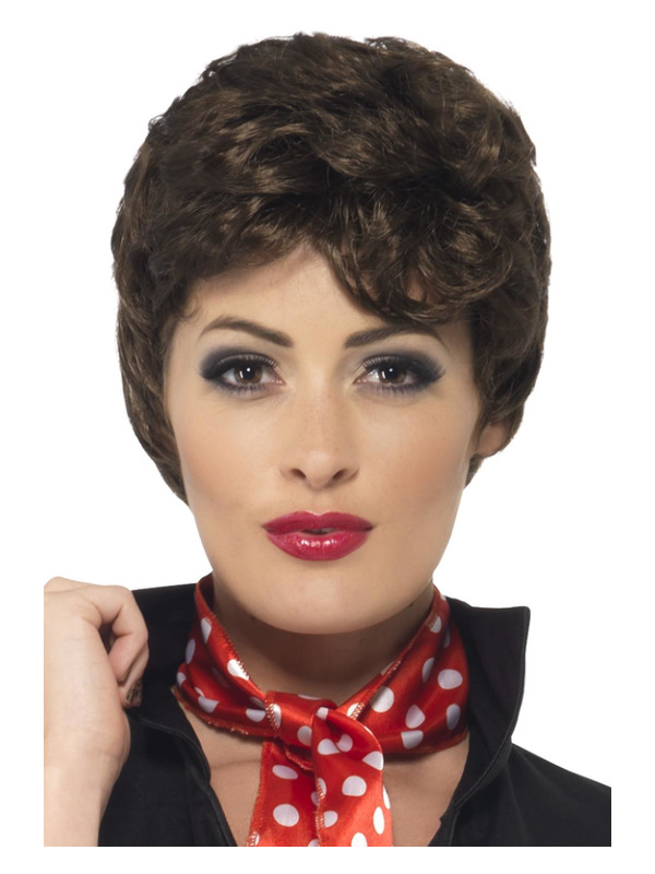 Grease Rizzo Wig, Brown, Short