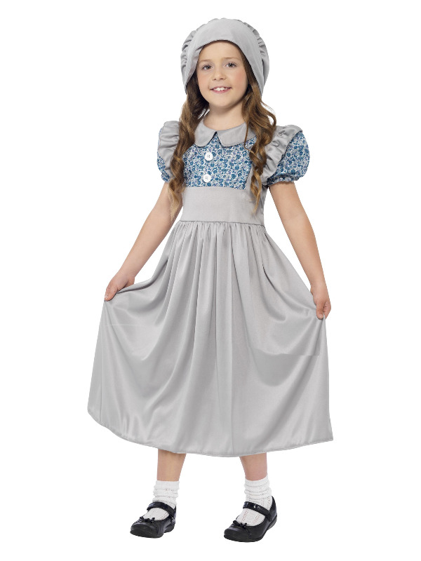 Victorian School Girl Costume, Grey