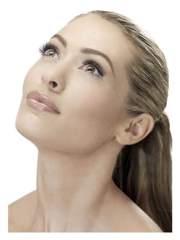 Eyelashes, Natural, Volume, Black, Contains Glue