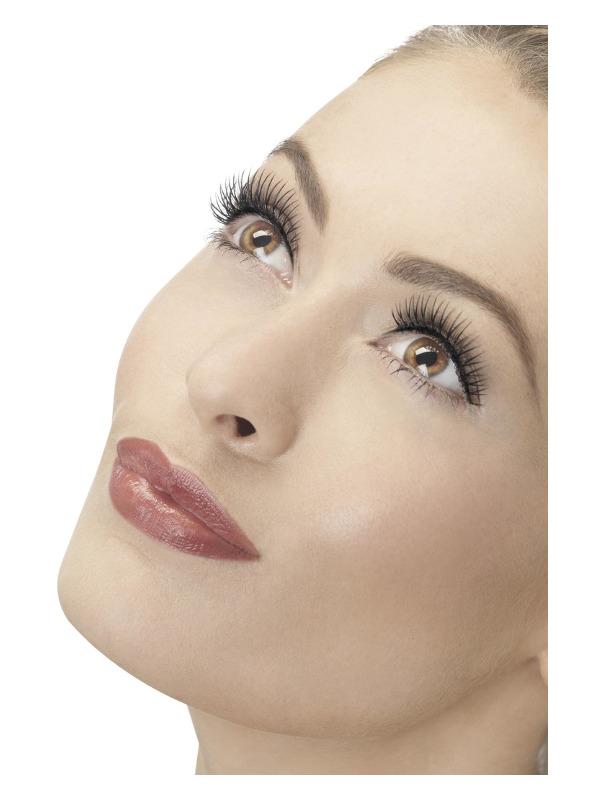 Eyelashes, Natural, Lengthen, Black, Contains Glue