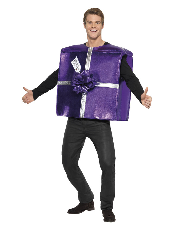 Christmas Present Costume, Purple, with Foam Tunic