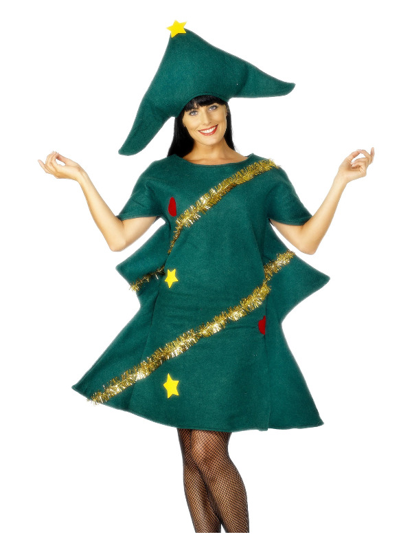 Christmas Tree Costume, Green, with Tunic & Hat