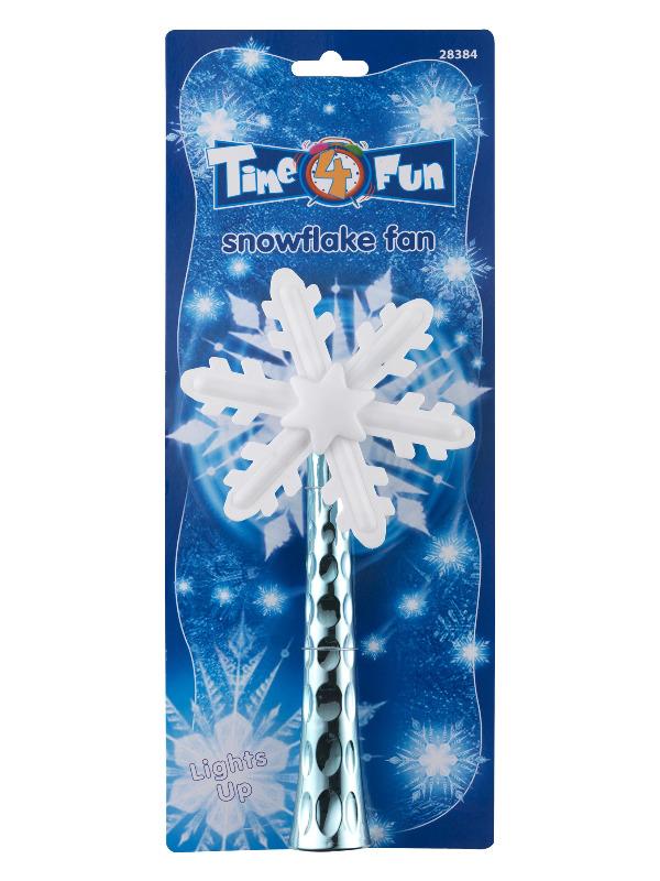 Light Up Snowflake Spinner, Blue & White, 43cm / 17in