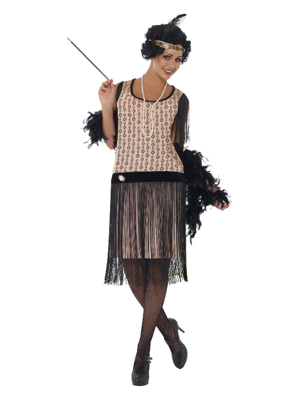 1920s Coco Flapper Costume, Pink