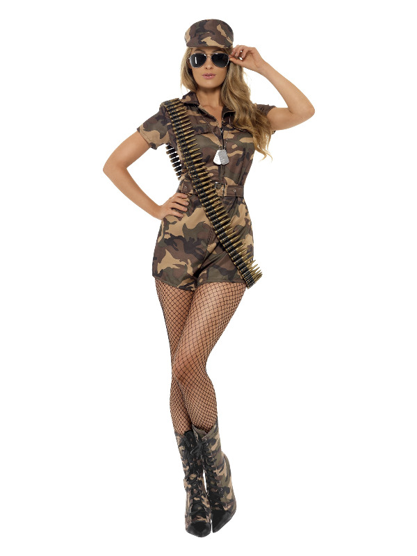 Army Girl Sexy Costume, Camouflage