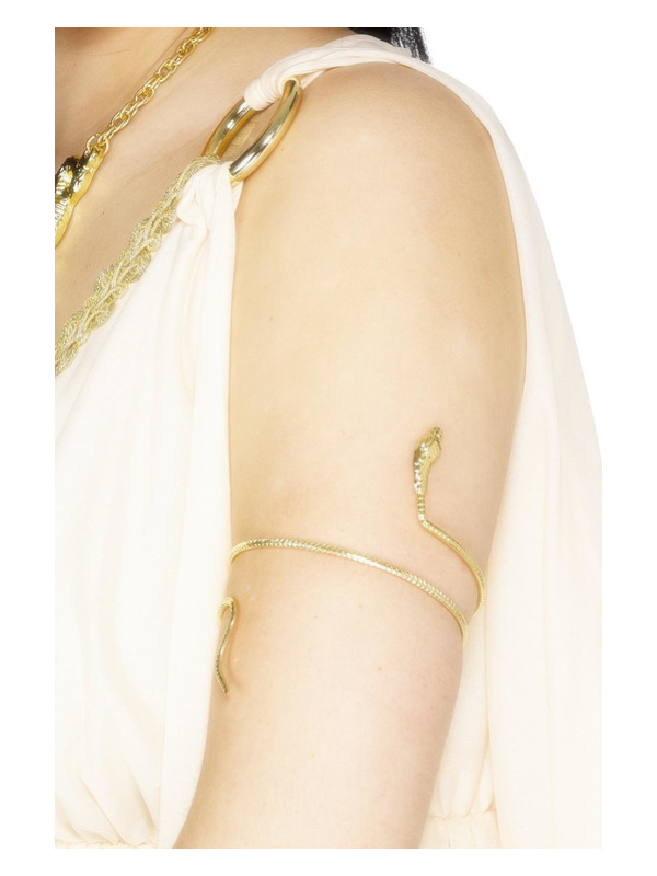 Egyptian Bracelet, Gold, Snake design