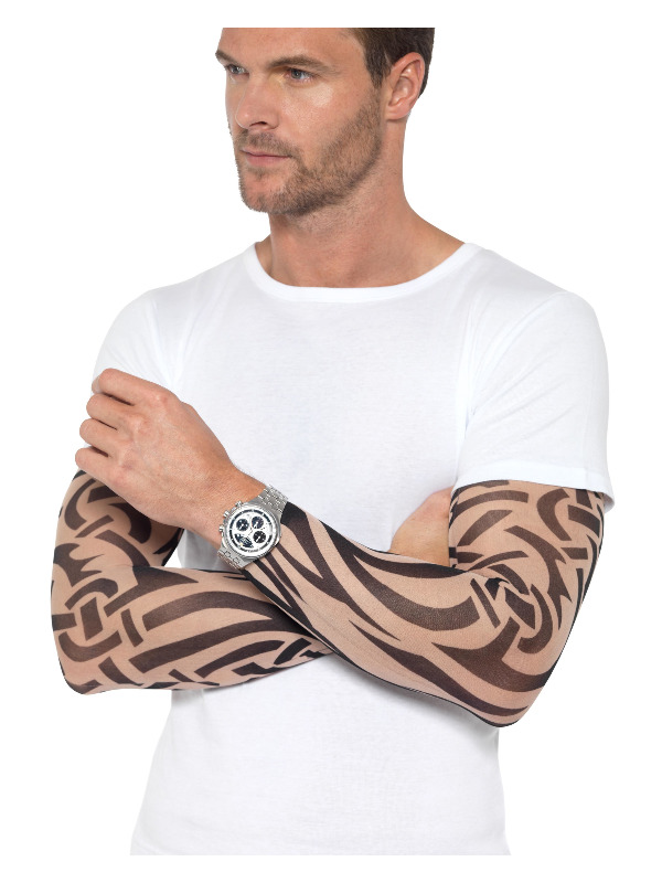 Tattoo Arm Sleeves 2Pk, Nude & Black