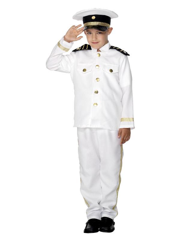 Captain Costume, Child, White