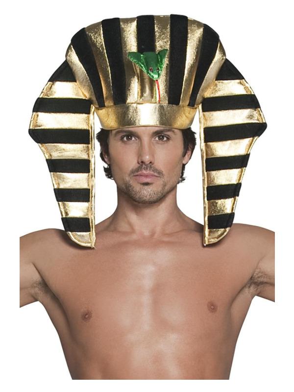 Pharaoh Headpiece, Black & Gold