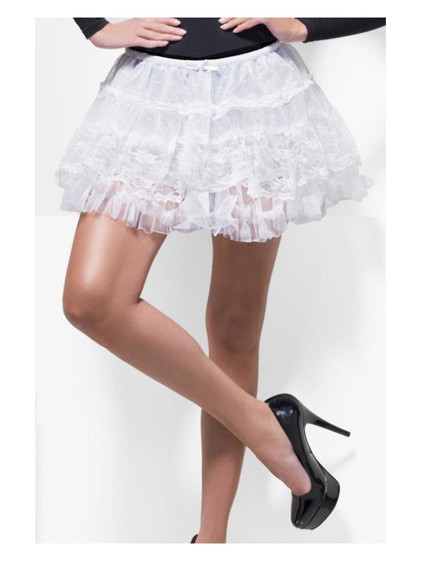 Fever Deluxe Lace Petticoat, White