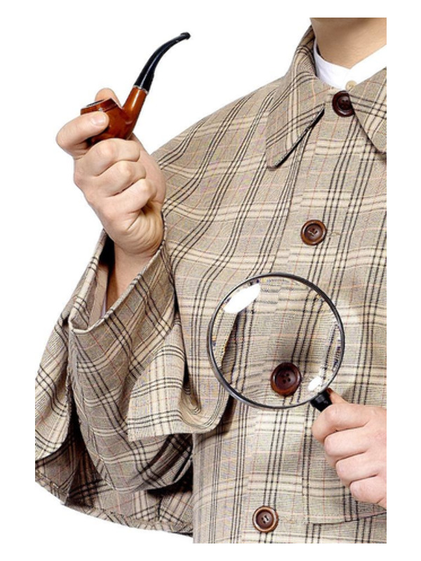 Tales of Old England Sherlock Holmes Kit, Brown, with Pipe & Magnifying Glass