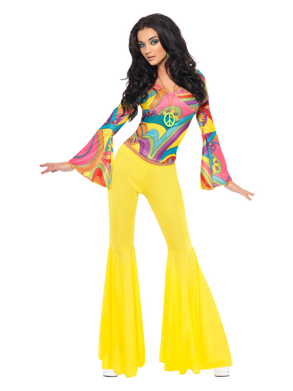 70s Groovy Babe Costume, Yellow