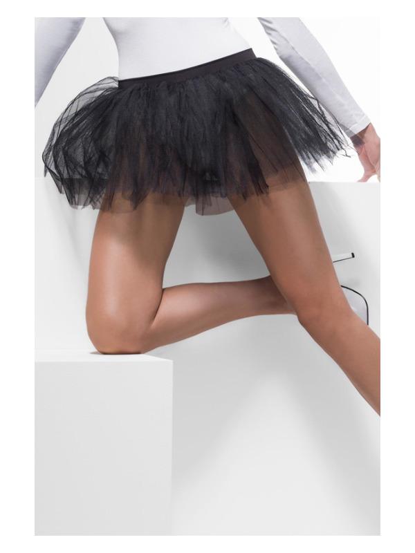 Tutu Underskirt, Black, 4 Layers, 30cm Long
