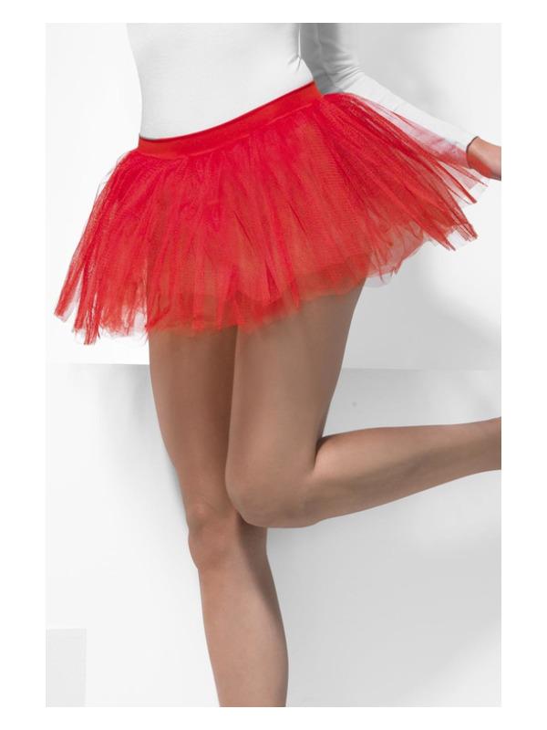 Tutu Underskirt, Red, 4 Layers, 30cm Long