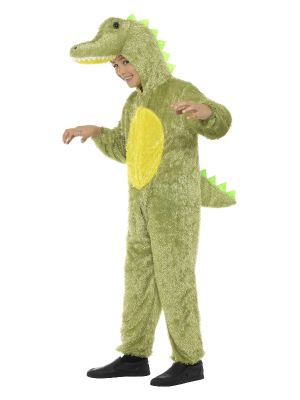 Crocodile Costume, Green, with Hooded Jumpsuit