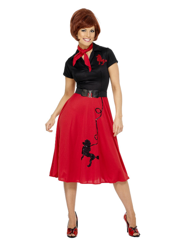 50s Style Poodle Costume, Red