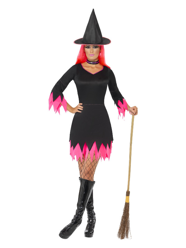 Witch Costume, Black & Pink