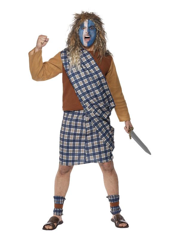 Brave Scotsman Costume, Blue