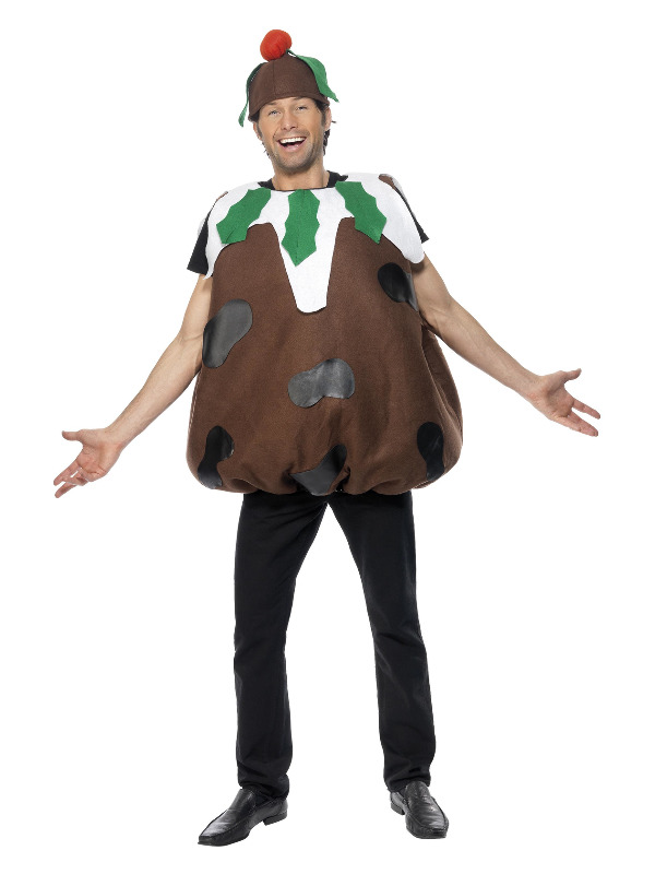 Christmas Pudding Costume, Brown, with Tabard & Hat