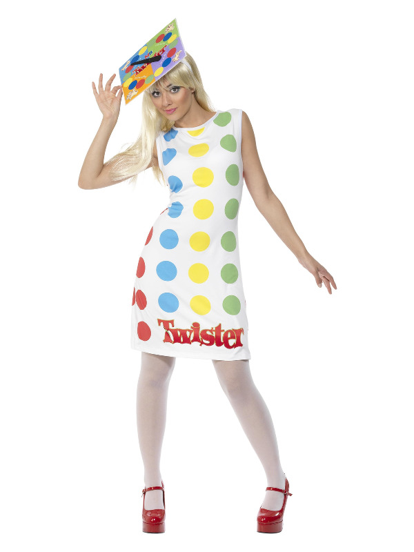 Twister Ladies Costume, Multi-Coloured