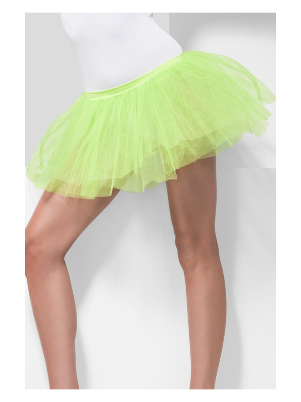 Tutu Underskirt, Neon Green, 4 Layers, 30cm Long