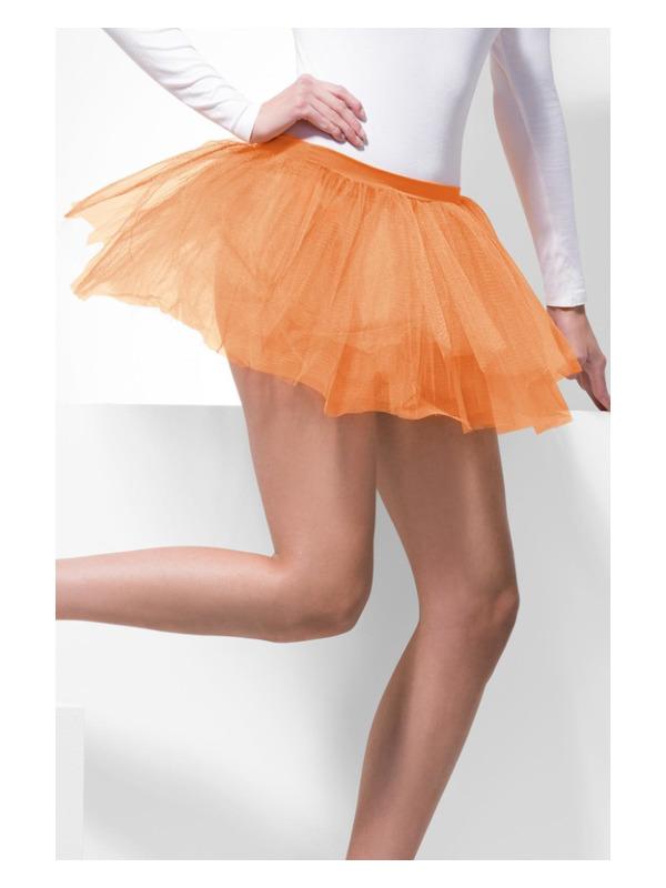 Tutu Underskirt, Neon Orange, 4 Layers, 30cm Long