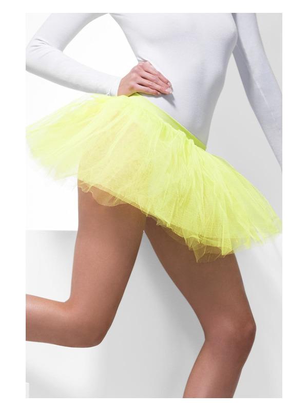 Tutu Underskirt, Neon Yellow, 4 Layers, 30cm Long