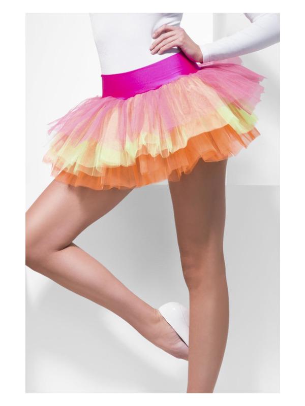 Tutu Underskirt, Multi-Coloured, Neon, Layered